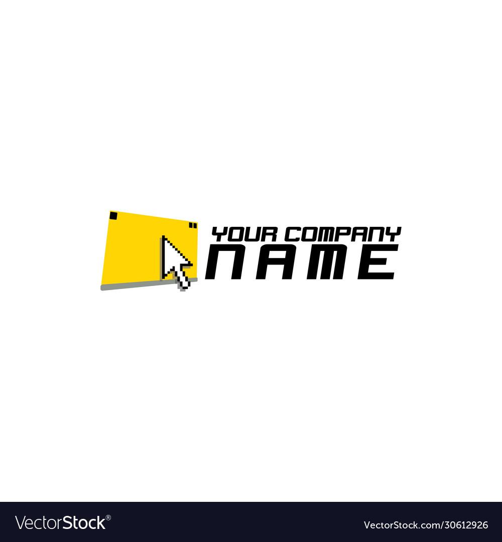 Cursor pixels logo design