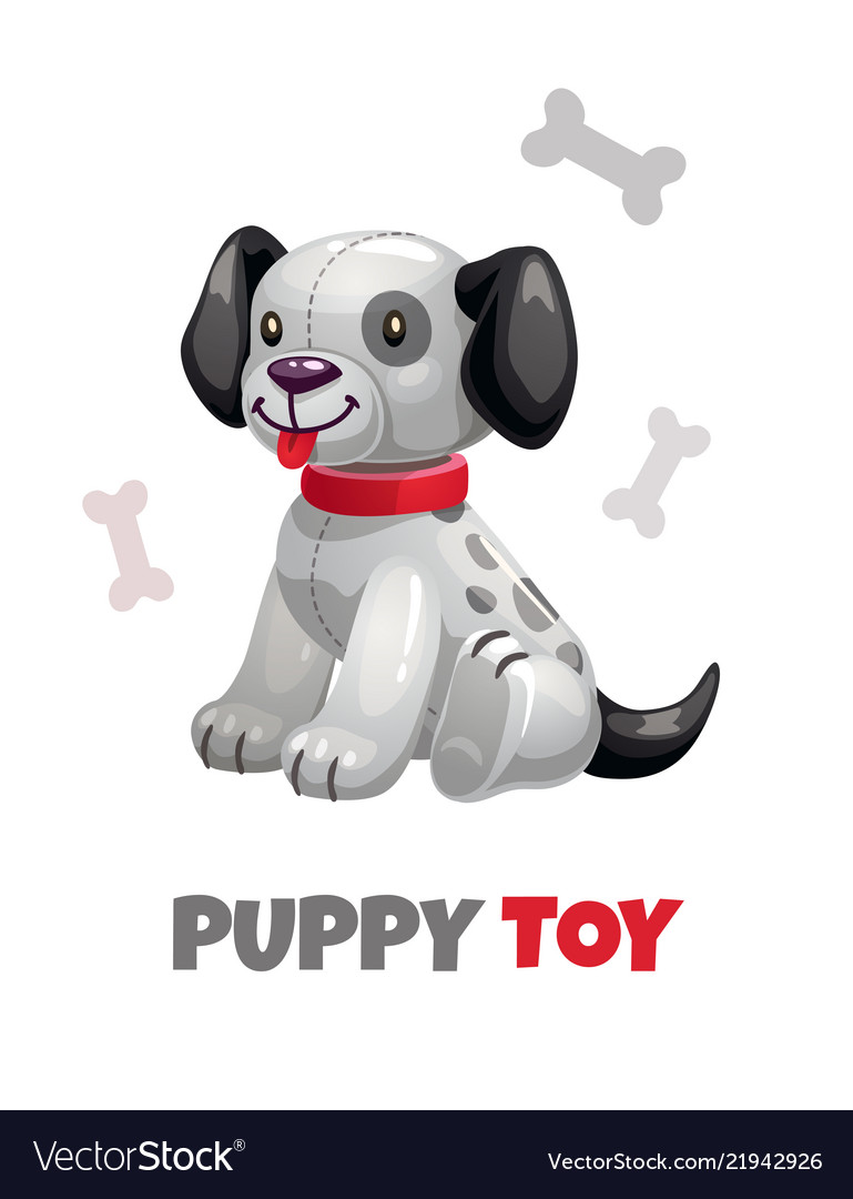 Cute funny textile puppy toy plush