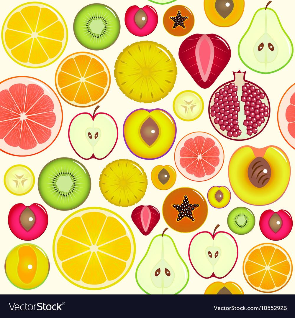 Fruit Slices Background Pattern