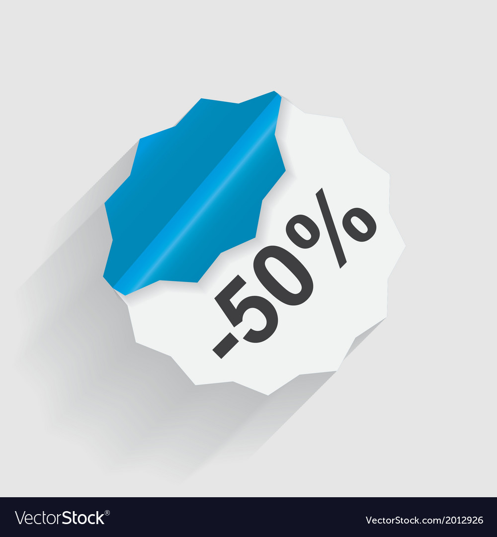 Paper Discount label
