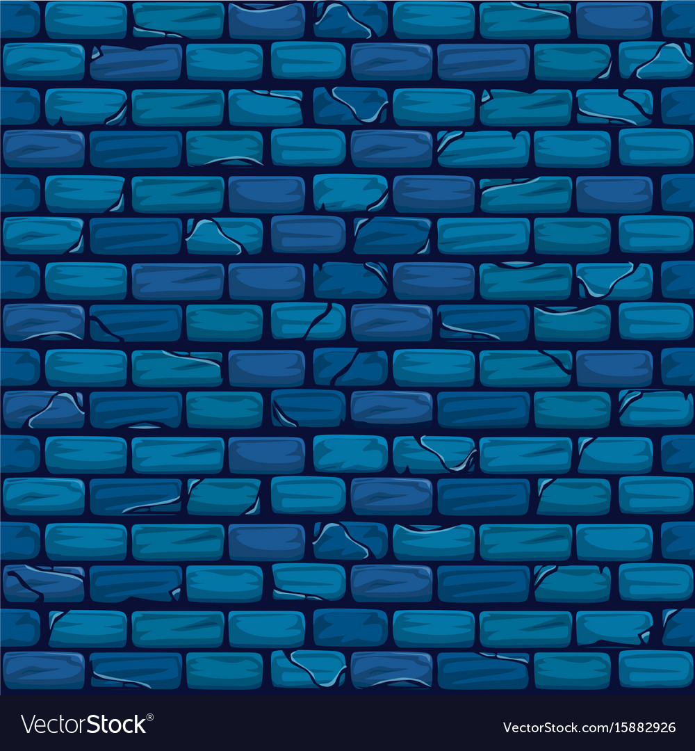 seamless blue brick wall background texture vector image