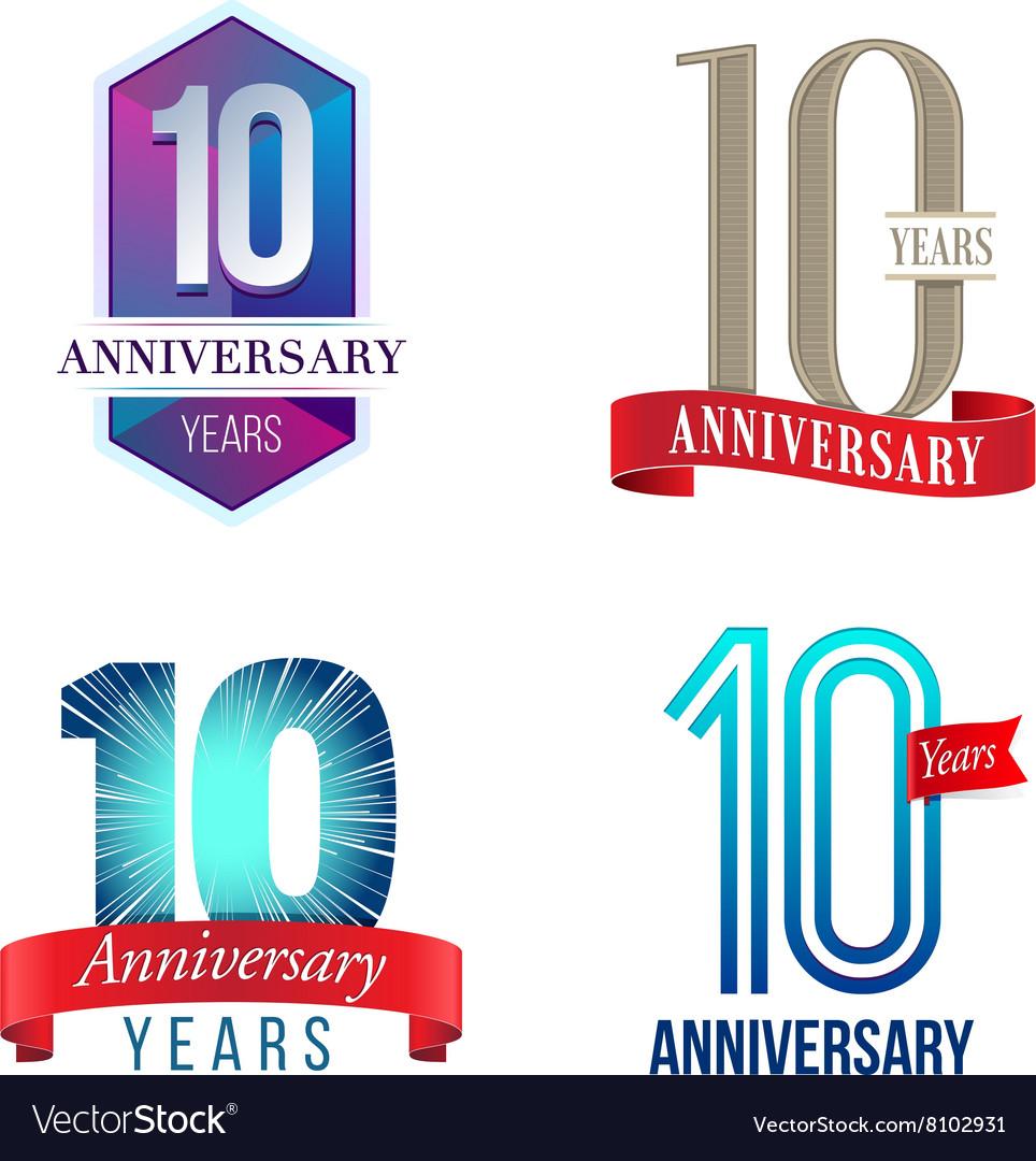 10 Years Anniversary Symbol Royalty Free Vector Image