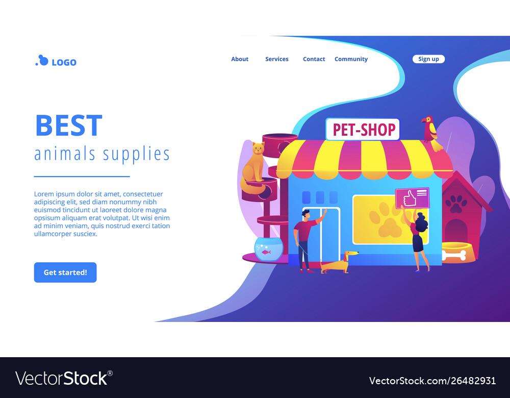 Animals shop concept landing page
