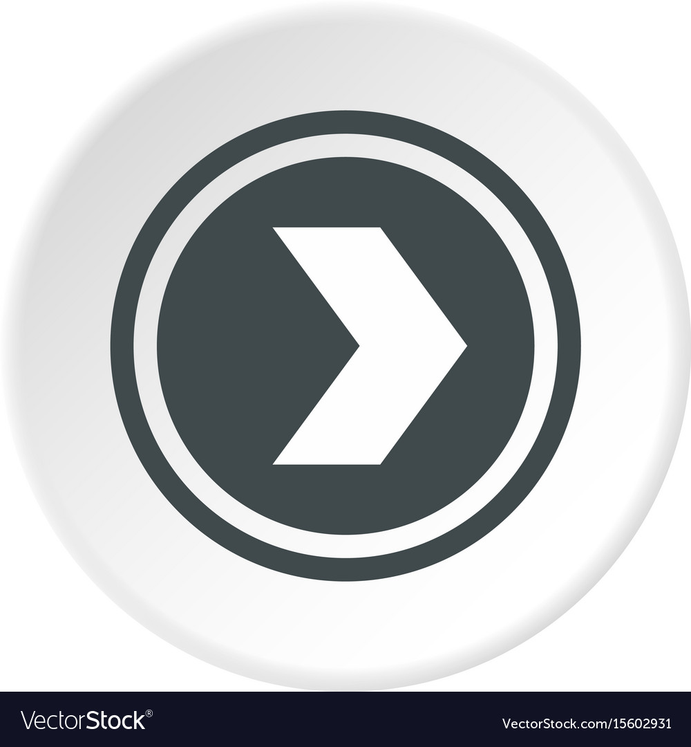 Arrow to right in circle icon circle