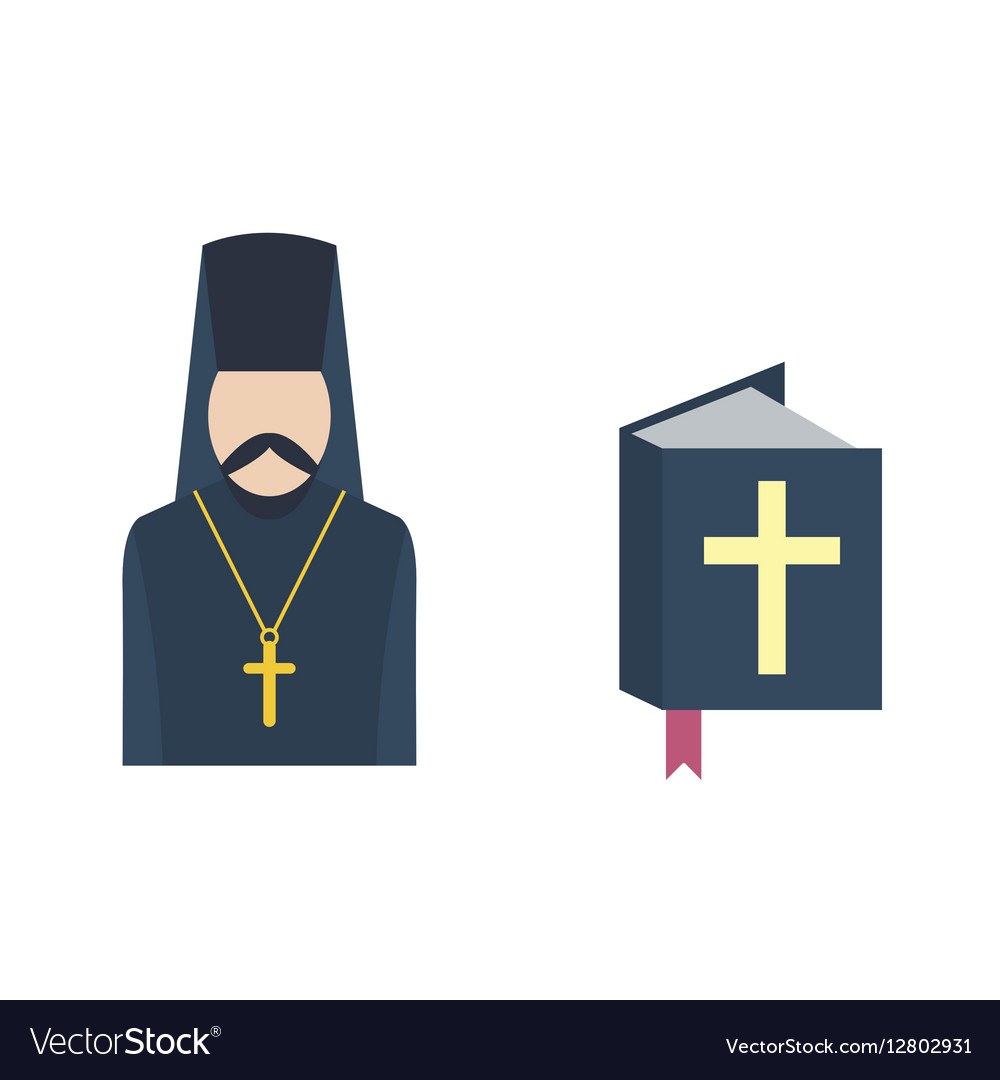 Catholic priest icon