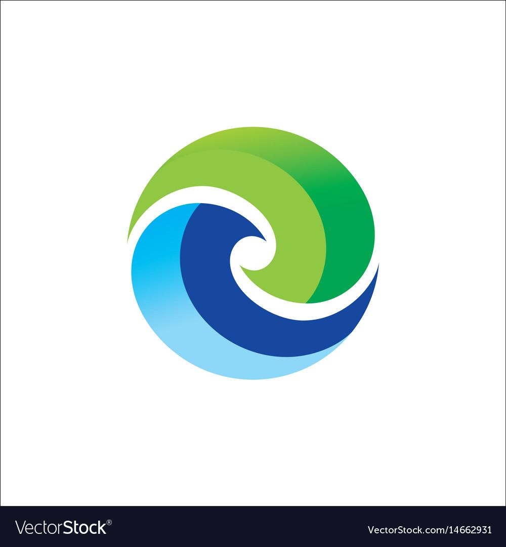 Circle round colored logo