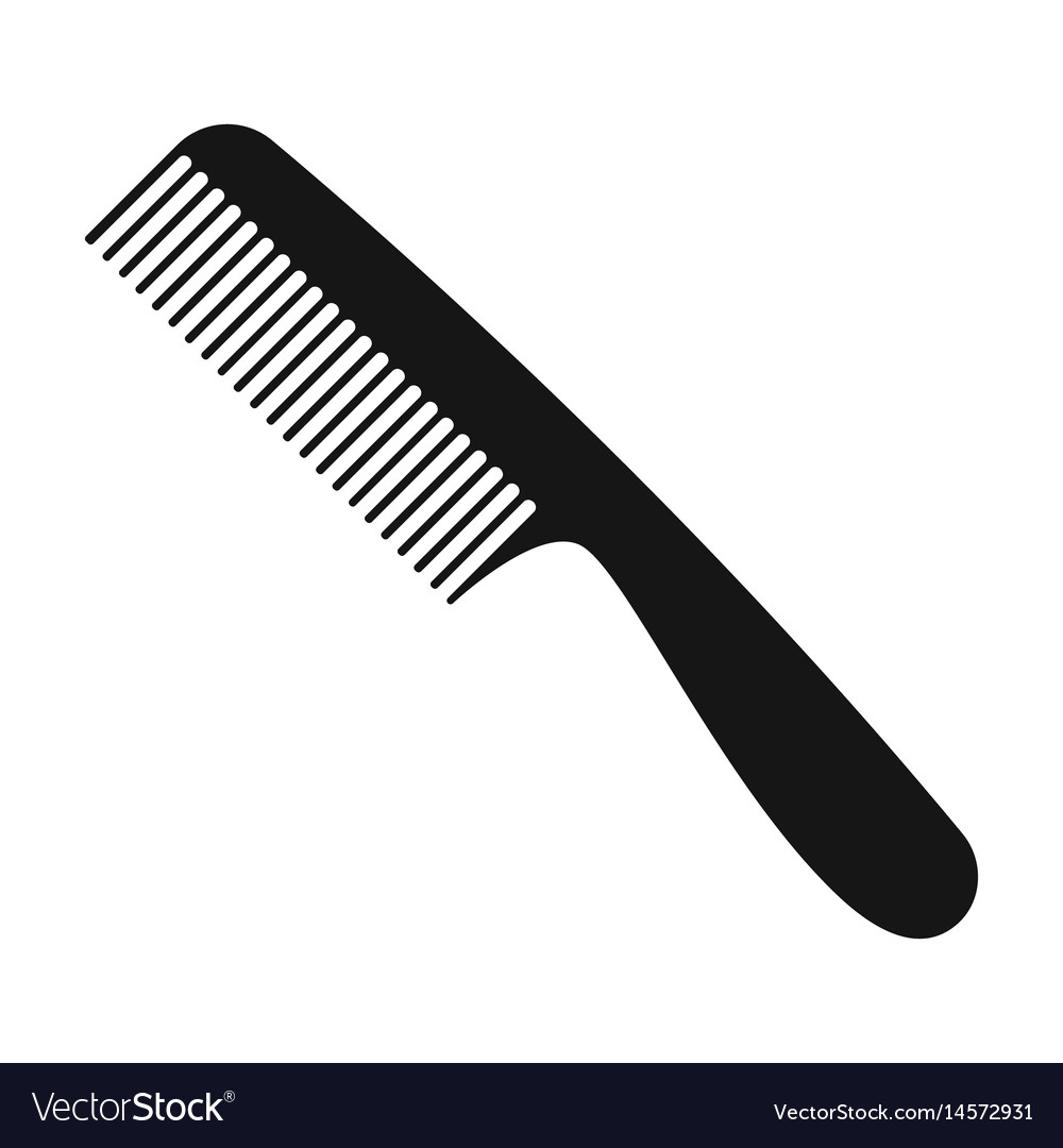Comb for hairbarbershop single icon in black