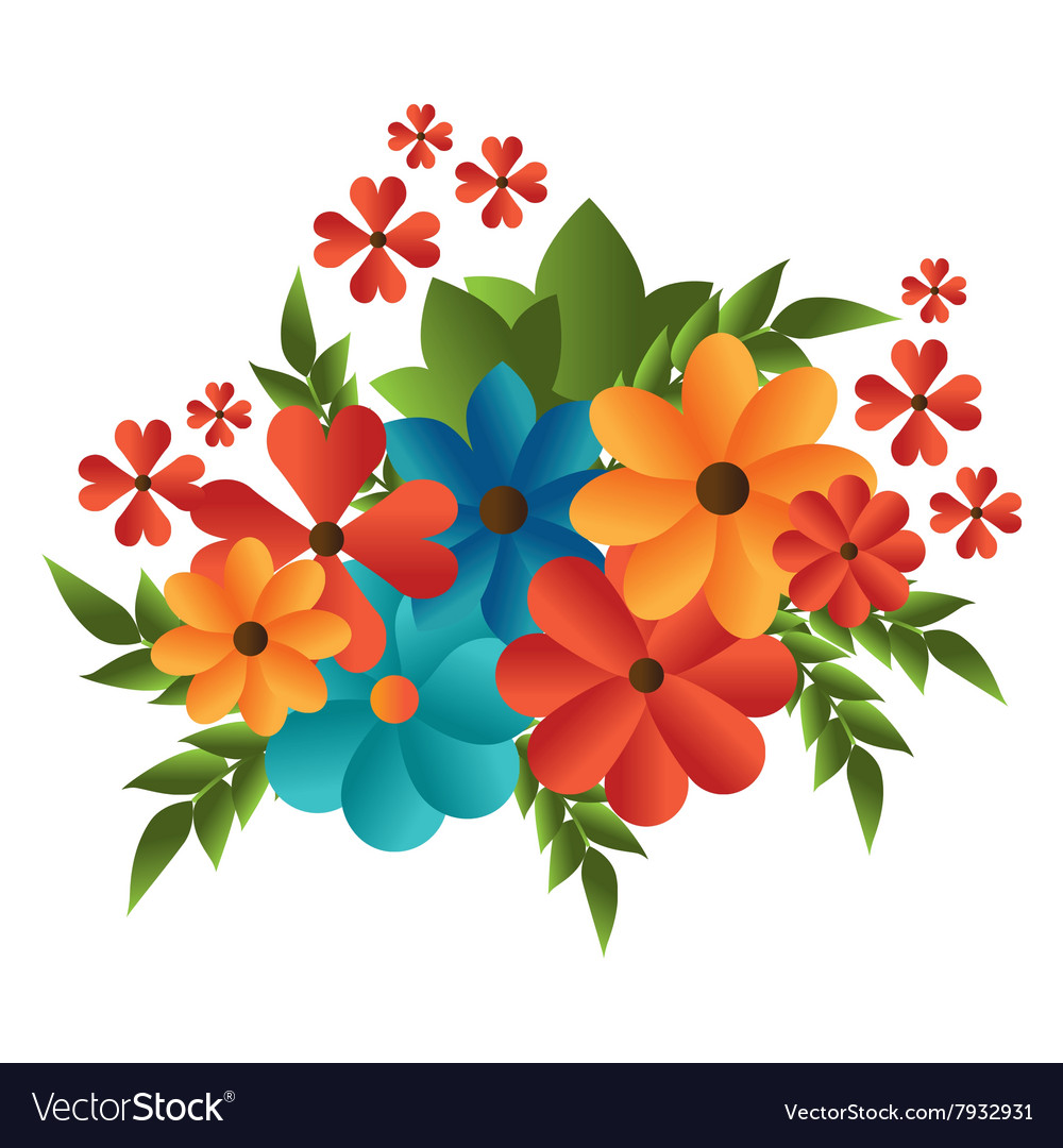 Flower color design Royalty Free Vector Image - VectorStock