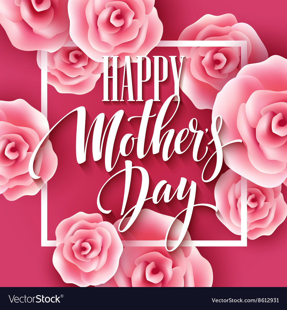 Happy mothers day lettering mothers day greeting vector image m4hsunfo
