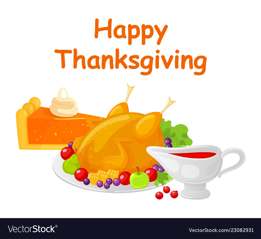 Happy thanksgiving day turkey dish meat