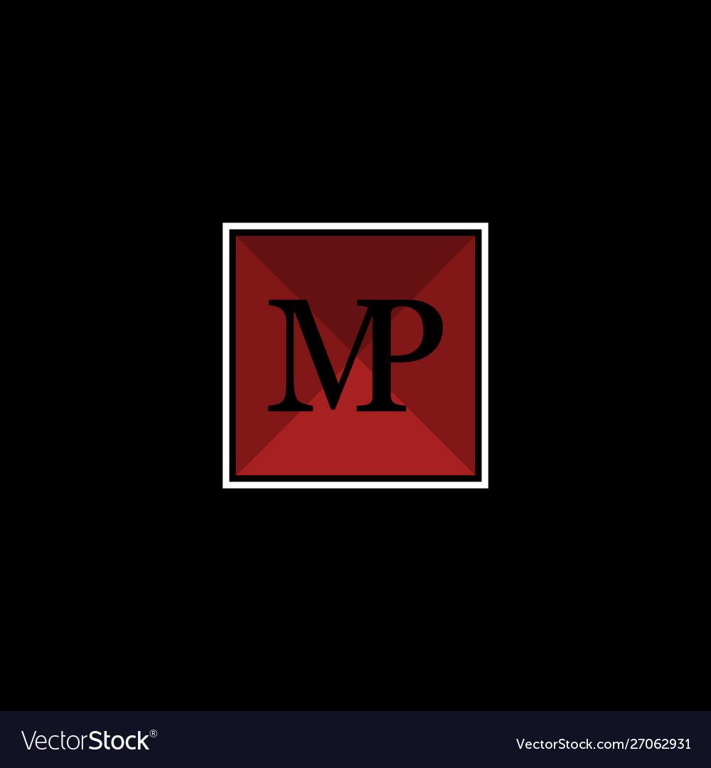 Letter mp square creative business logo
