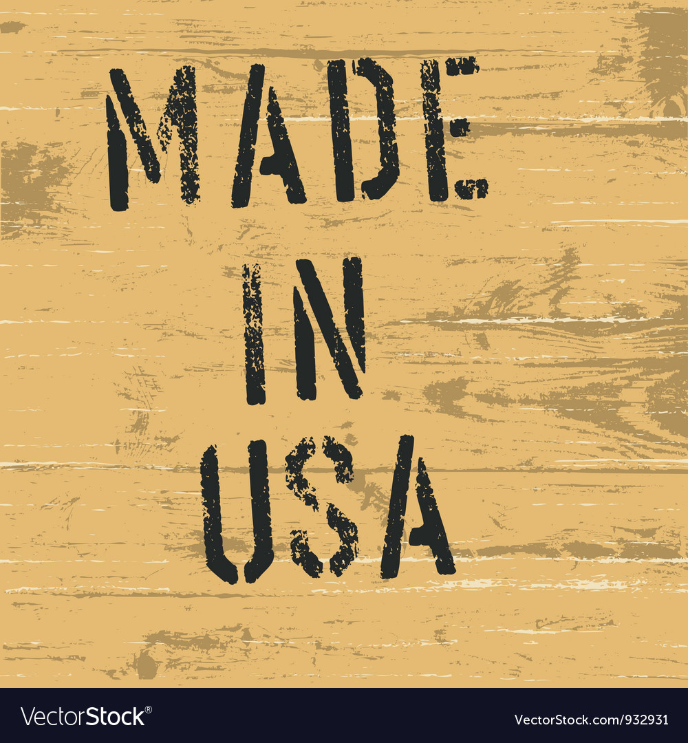 Made in usa vintage western sign