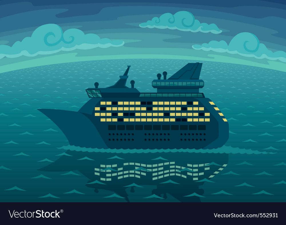 Night cruise vector image