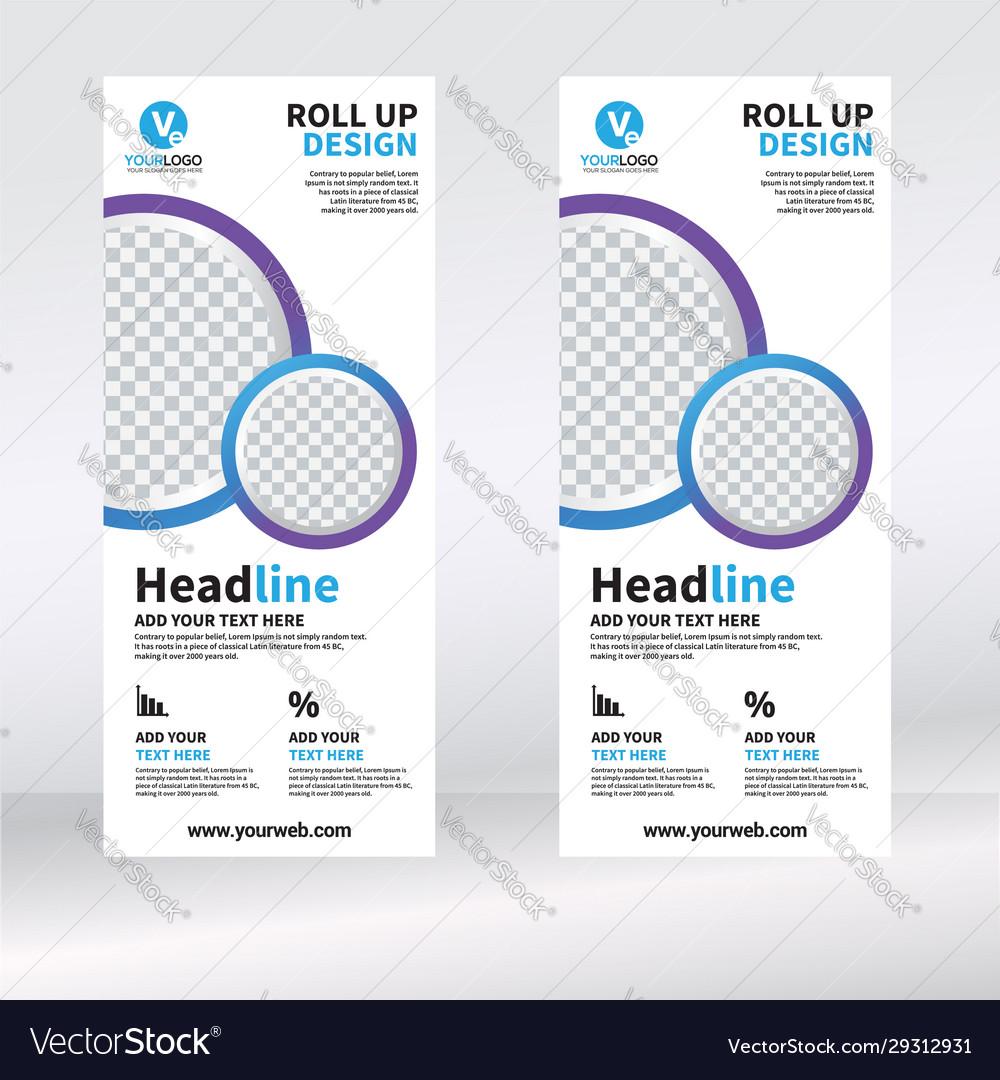 Roll up banner vertical design template banner