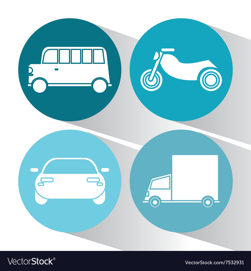 Transportation icon design vector image