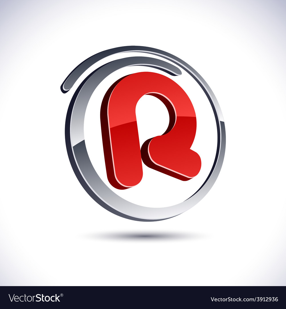 3d r letter icon royalty free vector image vectorstock 3d r letter icon vector image thecheapjerseys Image collections