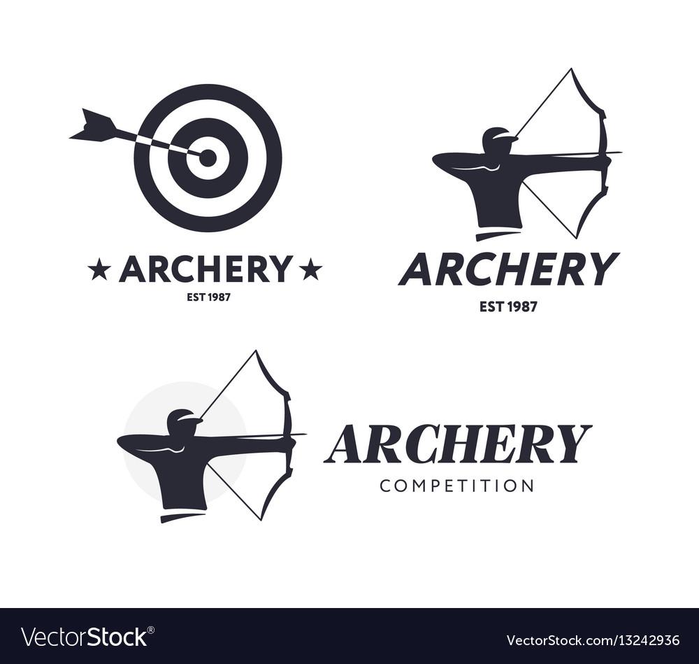 Abstract archery logo badge concept
