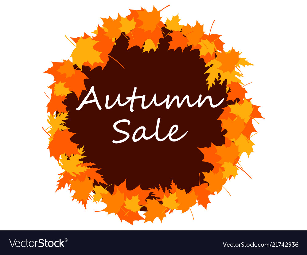 Autumn sale banner with fall leaves seasonal