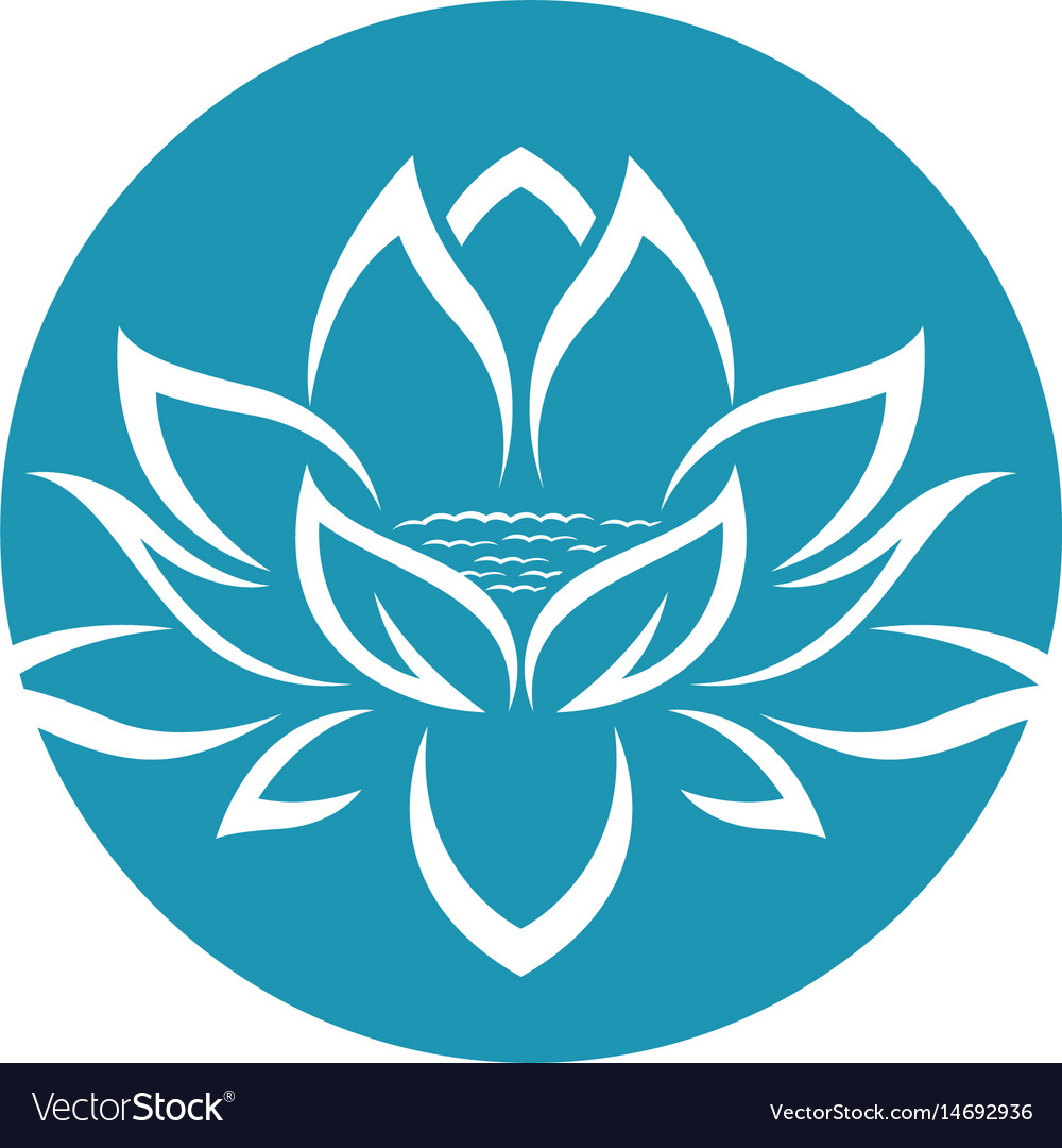 Beauty lotus flowers design logo template