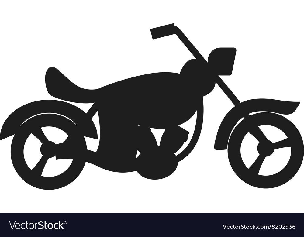 Black sport bike silhouette transport power