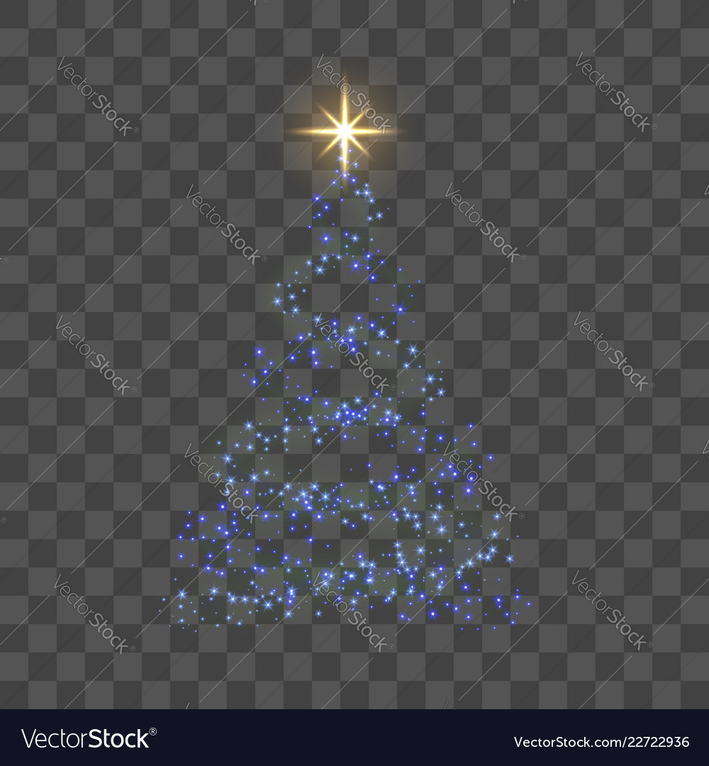 Christmas tree for card transparent background