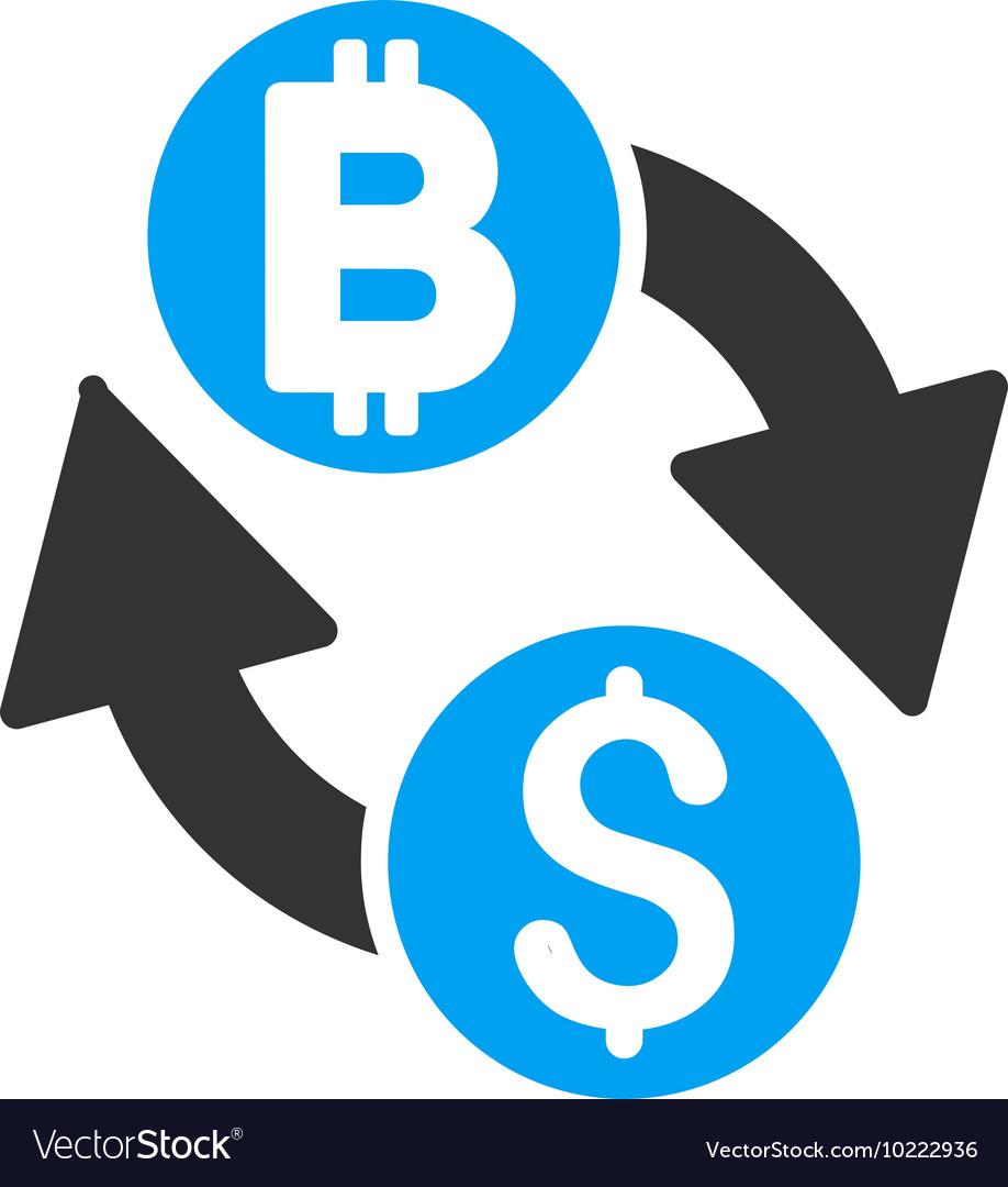 Dollar Bitcoin Exchange Flat Icon Vector Image