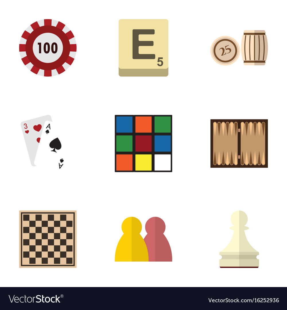 Flat icon entertainment set of dice lottery