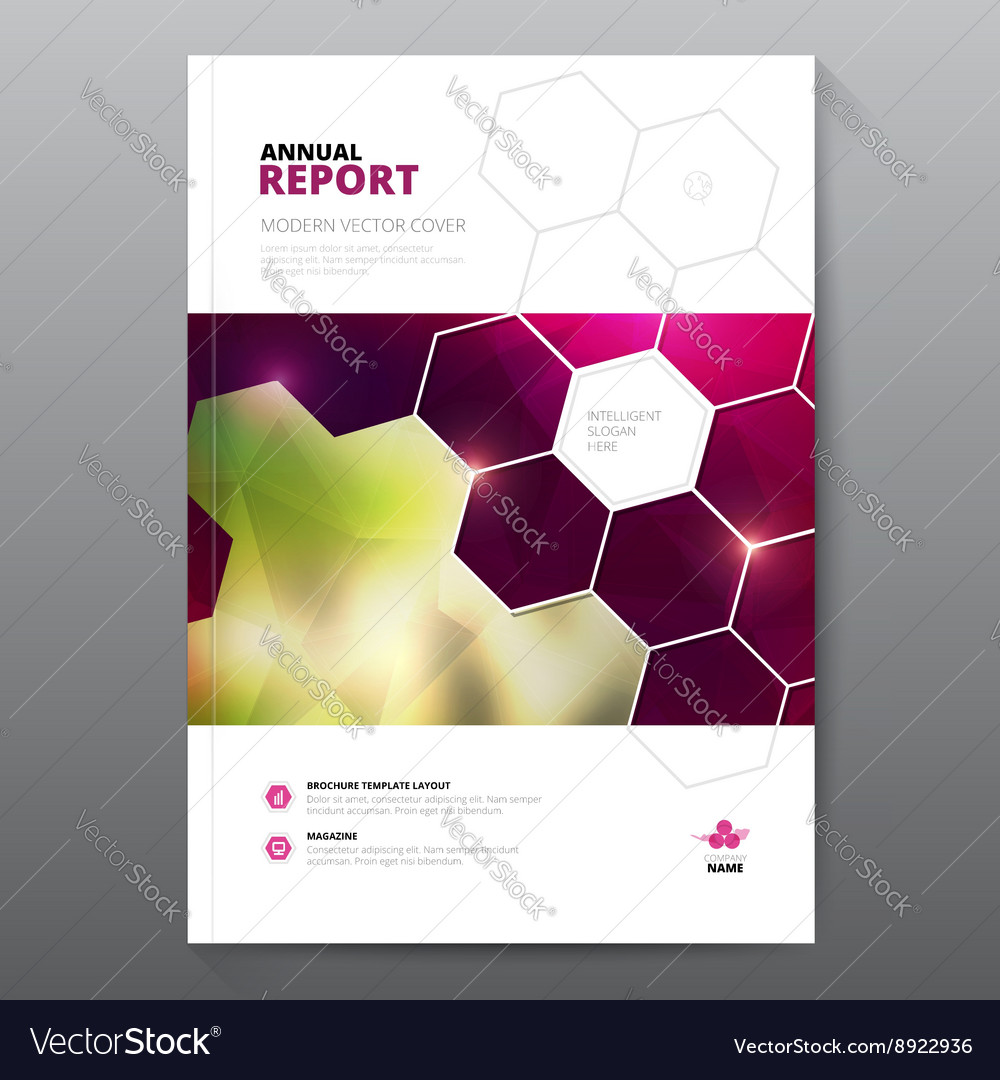 Pink annual report Leaflet Brochure Flyer template