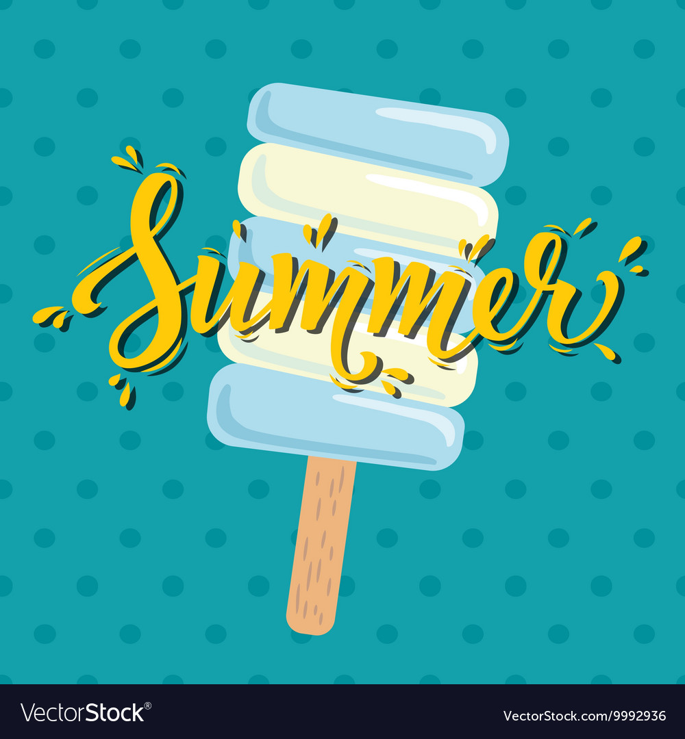 Poster Summer with ice cream