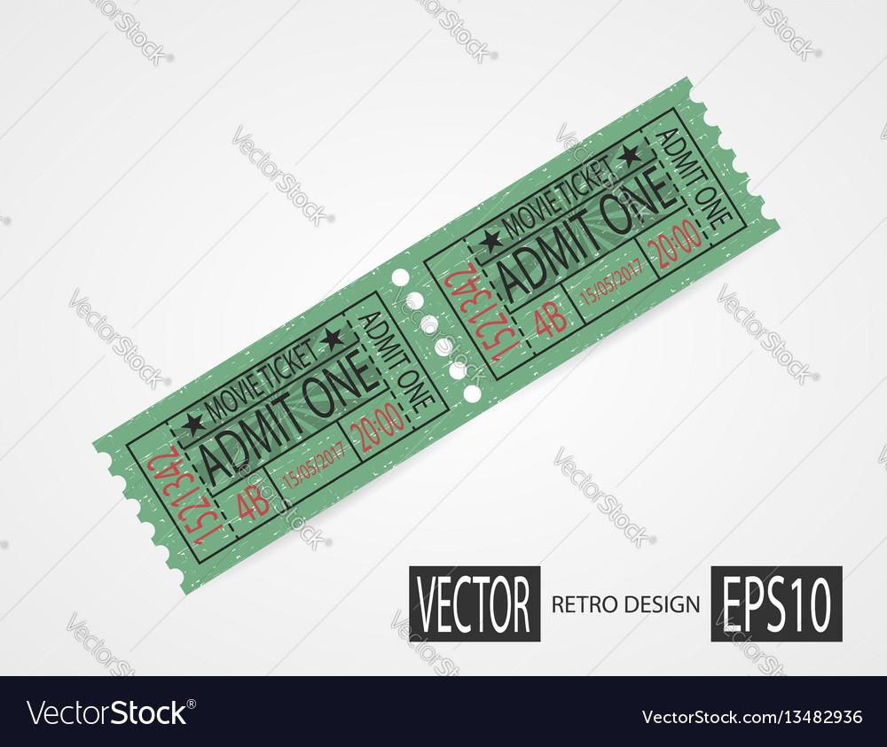 Retro cinema tickets design green