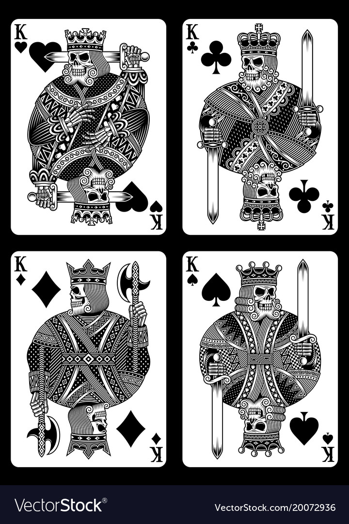 Set of skull playing cards