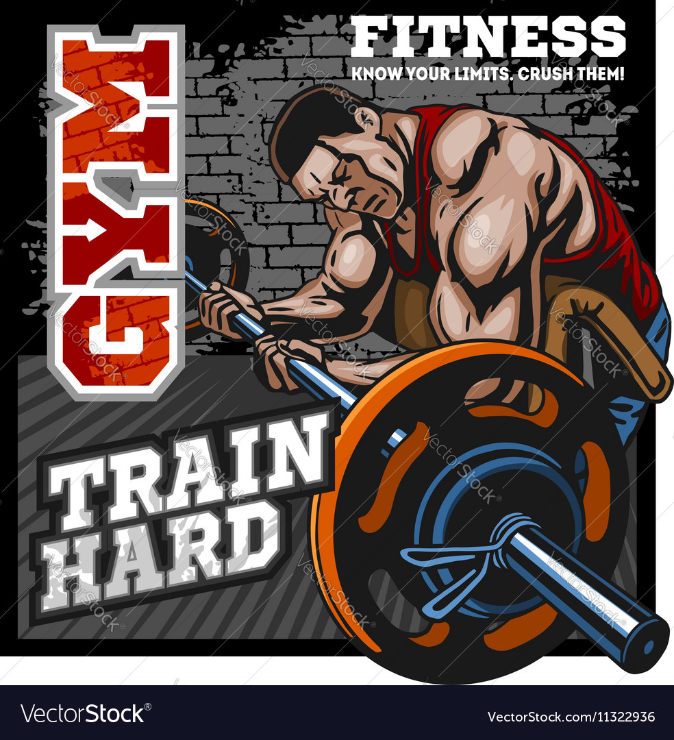 Sport club Bodybuilding logos emblems design