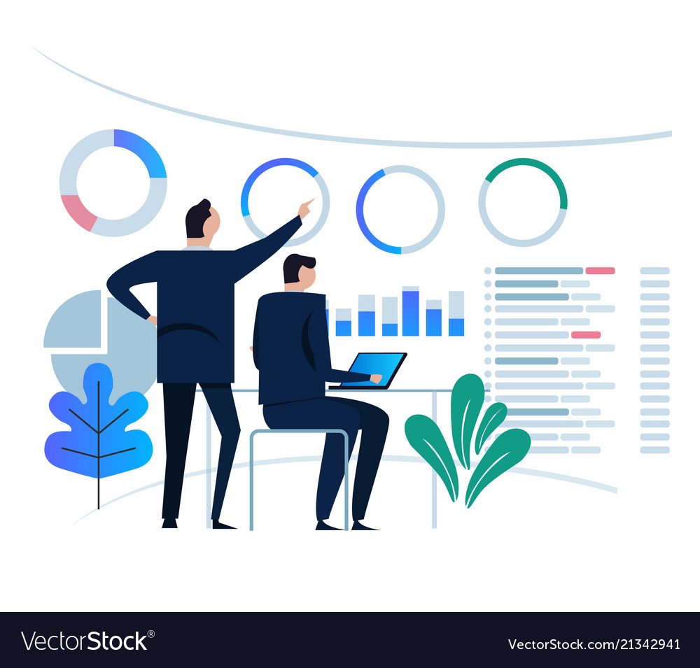 Business analytics design concept and business