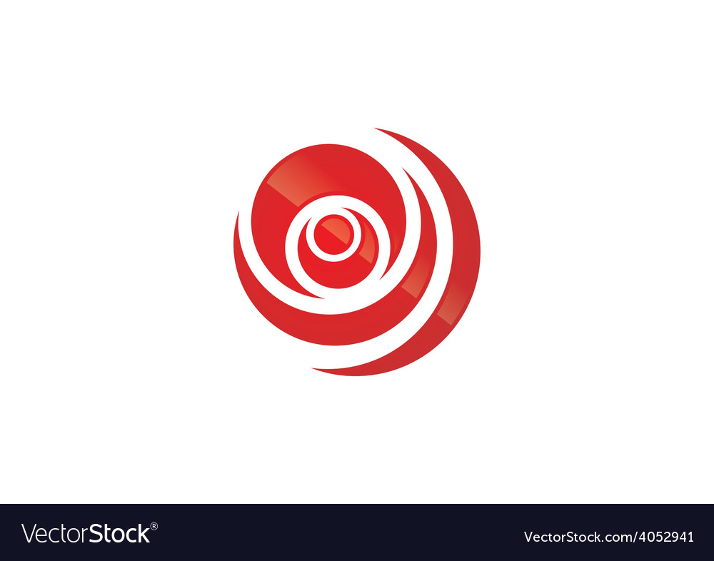 circle round swirl logo royalty free vector image