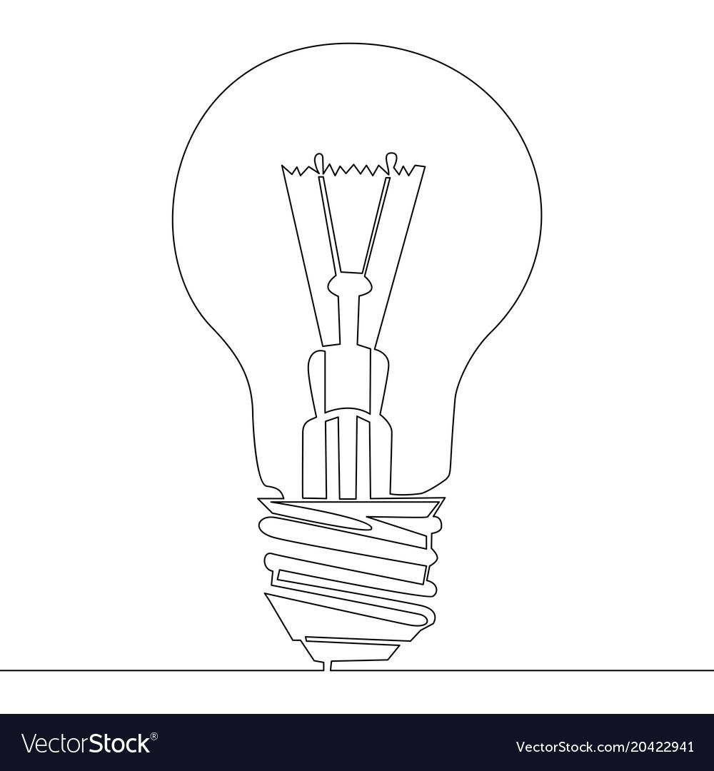 Fluorescent Light Bulb Diagram Drawing Trusted Schematics Compactfluorescentlightbulbsdiagram Continuous One Line Symbol Vector Image Exterior Fixture