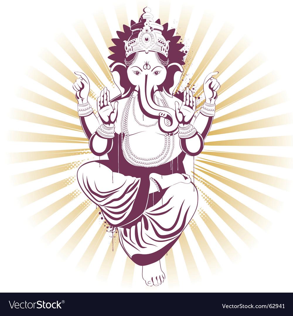 Ganesh vector image