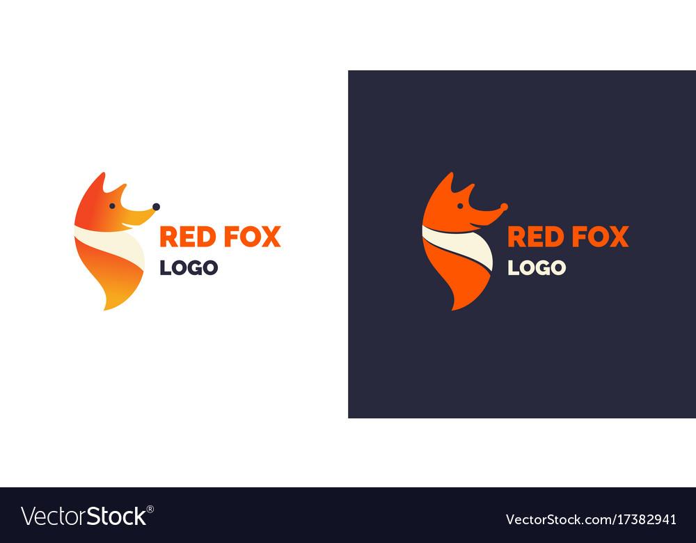 Modern fox logo and emblem