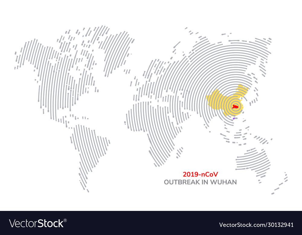 Pandemic china coronavirus outbreak poster map