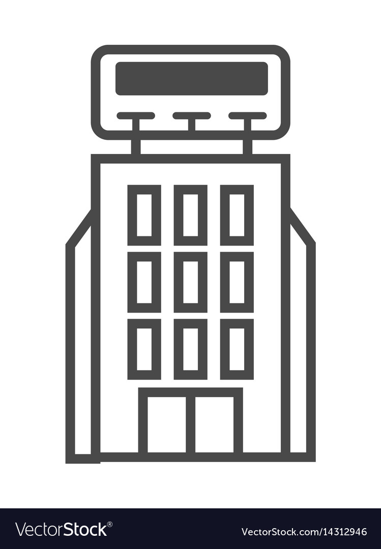 Advertisement billboard on building icon