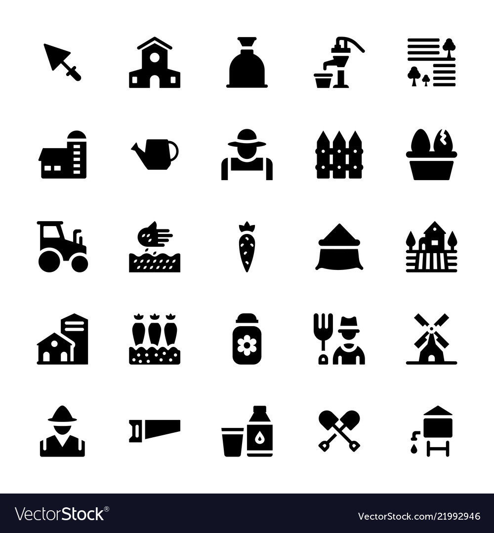 Agriculture glyph icons