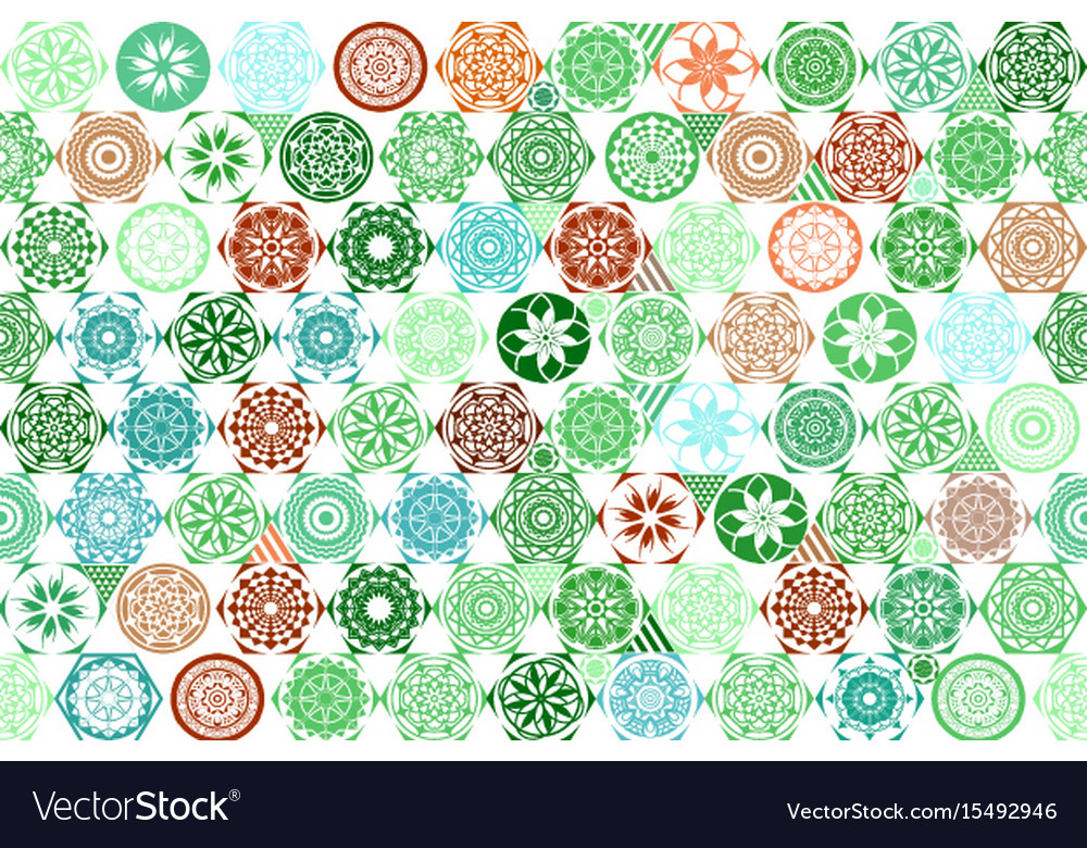 Seamless mega gorgeous seamless patchwork pattern