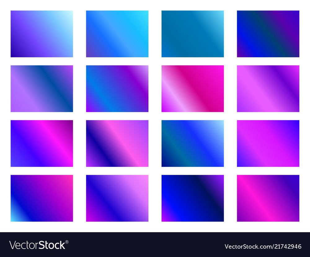 Set of gradient backgrounds blurred shades of