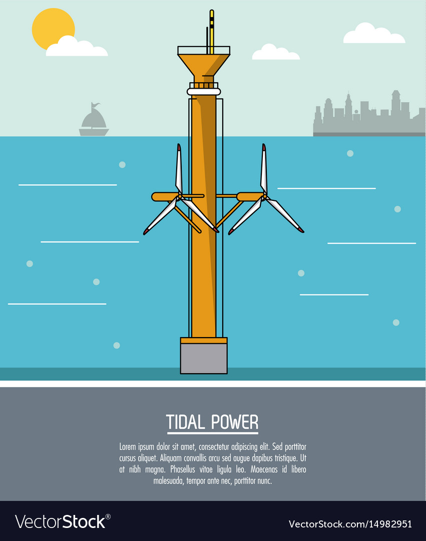 tidal energy power plant diagrams