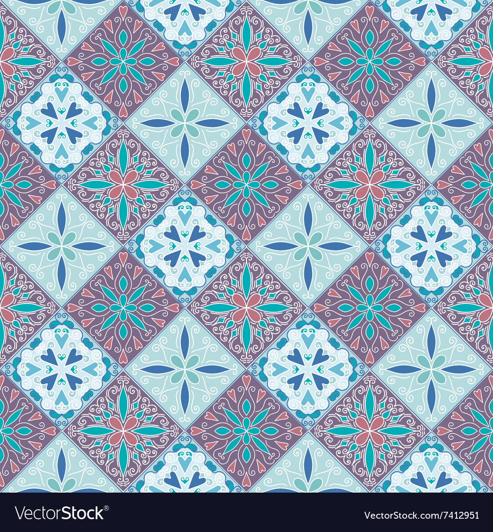Colorful Moroccan tiles ornaments Royalty Free Vector Image