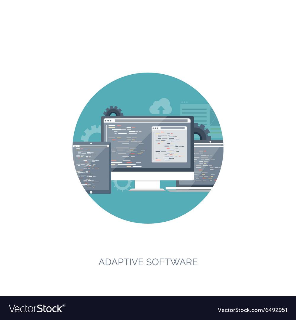 Flat background Coding