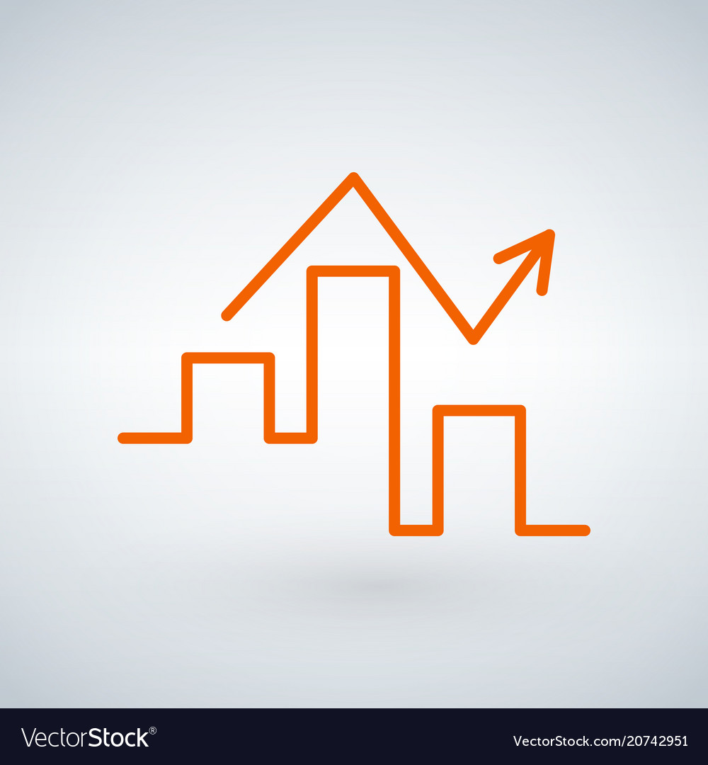 Linear graph icon in trendy flat style isolated