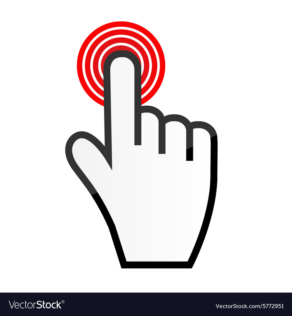 mouse hand cursor royalty free vector image vectorstock rh vectorstock com hand cursor icon vector free download hand cursor vector free