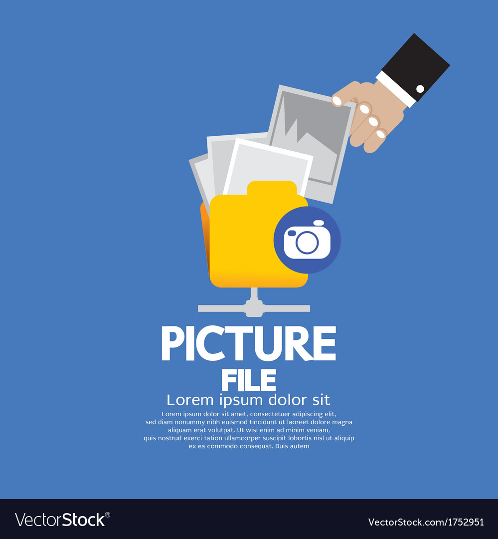 Picture File Storage vector image