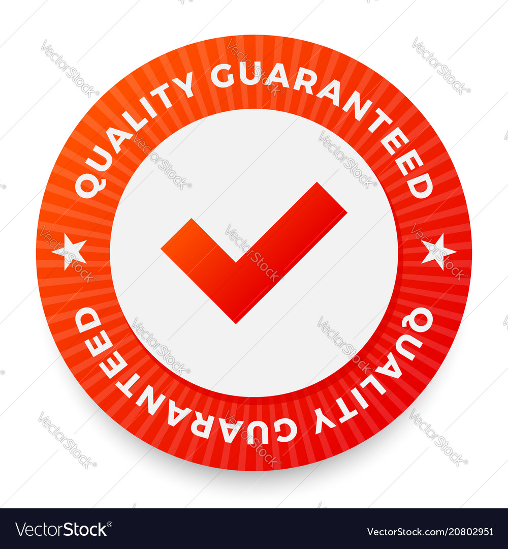 Quality guarantee label round stamp for high