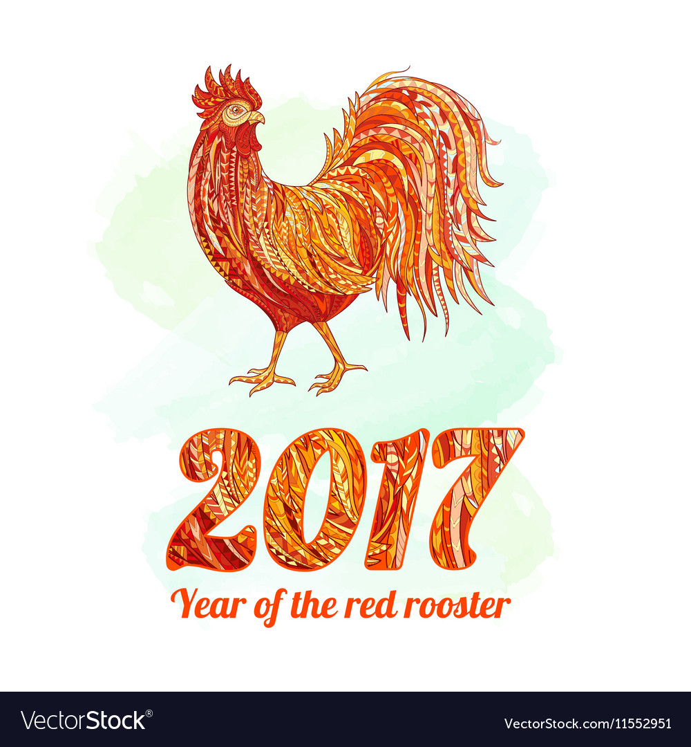 Rooster symbol 2017 on the